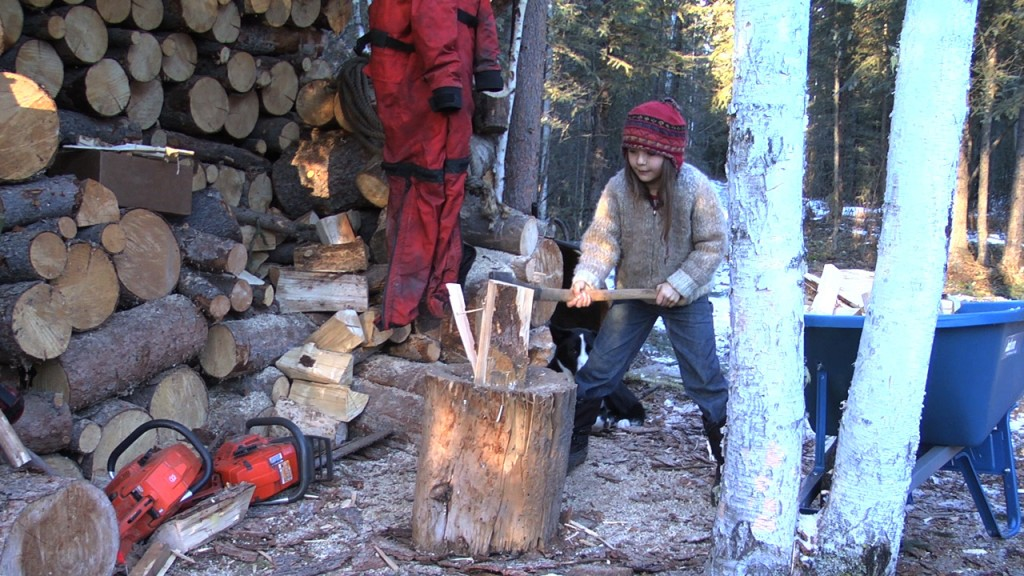 All the Time in the World – a documentary by Suzanne Crocker. A family-friendly film about a family living and being home-schooled off-grid in the wilderness.wood